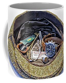 Coffee Mug featuring the photograph A Man's Items by Walt Foegelle