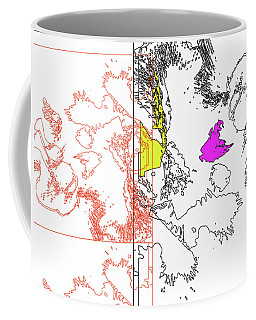 A Map Of Irises Coffee Mug