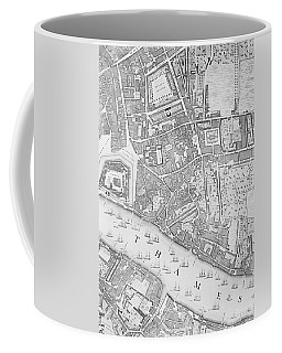A Map Of The Tower Of London Coffee Mug