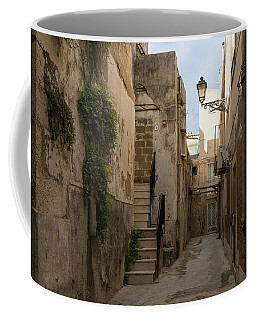 A Marble Staircase To Nowhere - Tiny Italian Lane In Syracuse Sicily Coffee Mug