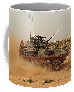 A Marine Corps Light Armored Vehicle Coffee Mug