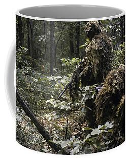 A Marine Sniper Team Wearing Camouflage Coffee Mug