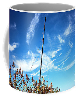 Coffee Mug featuring the photograph A Mast Appears by John Rizzuto
