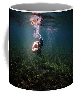 A Mermaid In A Sea Of Coral Coffee Mug