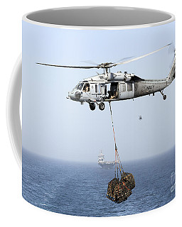 A Mh-60 Helicopter Transfers Cargo Coffee Mug