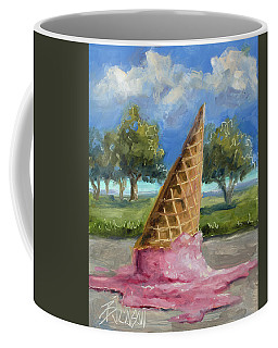 Coffee Mug featuring the painting A Mid Summer Tragedy by Billie Colson