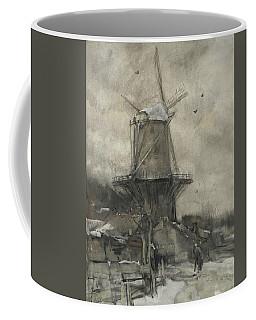 A Mill In Winter Coffee Mug