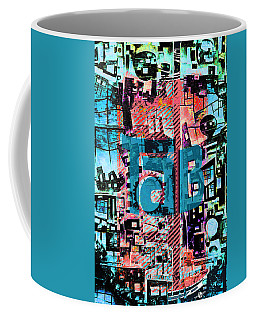 Coffee Mug featuring the mixed media A Million Colors One Calorie by Tony Rubino