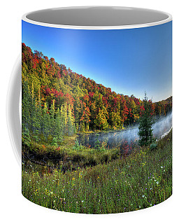 Coffee Mug featuring the photograph A Misty Autumn Morning by David Patterson