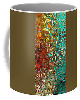 Coffee Mug featuring the painting A Moment In Time - Abstract Art by Carmen Guedez