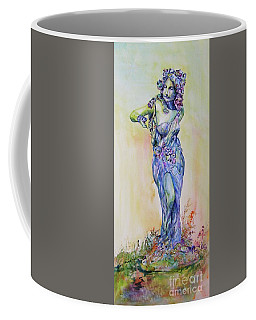 Coffee Mug featuring the painting A Moment In Time by Mary Haley-Rocks