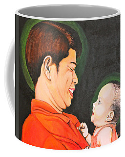 A Moment With Dad Coffee Mug by Cyril Maza