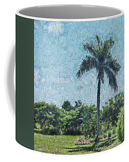 A Monet Palm Coffee Mug