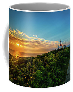 A Montauk Lighthouse Sunrise Coffee Mug