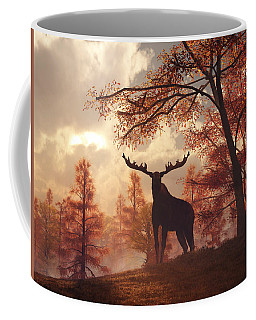 A Moose In Fall Coffee Mug