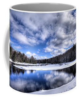 Coffee Mug featuring the photograph A Moose River Snowscape by David Patterson