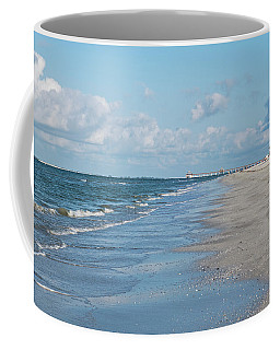 A Morning Walk On Fort Myers Beach Fort Myers Florida Coffee Mug