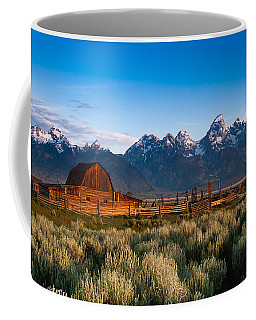 Coffee Mug featuring the photograph A Moulton Barn by Monte Stevens