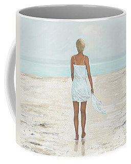 Coffee Mug featuring the painting A Natural Beauty by Leslie Allen