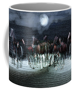 A Night Of Wild Horses Coffee Mug