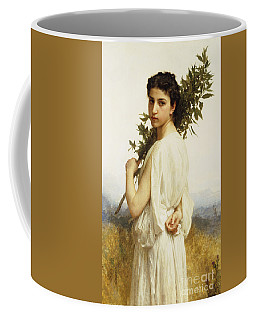 A Nymph Holding A Laurel Branch Coffee Mug