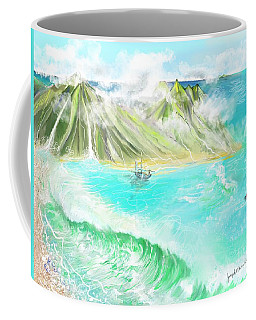 A Ocean Some Where Coffee Mug