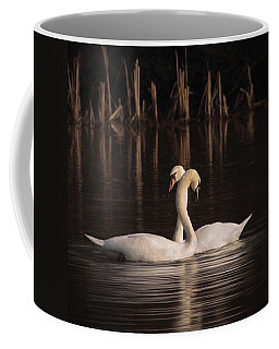 A Painting Of A Pair Of Mute Swans Coffee Mug