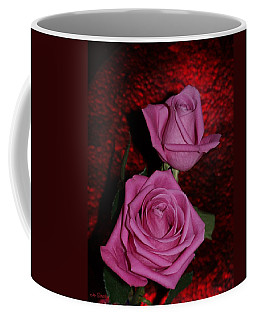 A Pair Of Pink Roses Coffee Mug
