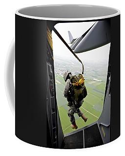 A Paratrooper Executes An Airborne Jump Coffee Mug