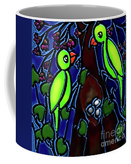 A Parrot Family In Wilderness Coffee Mug