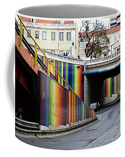 Coffee Mug featuring the photograph A Throughway Of Many Colors by Lorraine Devon Wilke