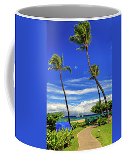 Coffee Mug featuring the photograph A Path In Kaanapali by James Eddy