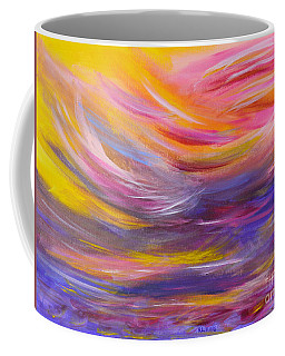 A Peaceful Heart - Abstract Painting Coffee Mug