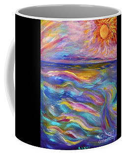 A Peaceful Mind - Abstract Painting Coffee Mug