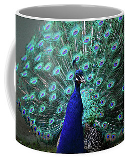A Peacock With His Feather's Expanded Coffee Mug by DejaVu Designs