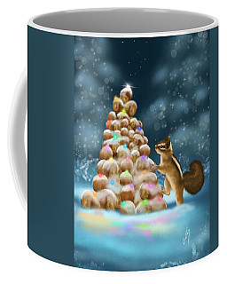 Coffee Mug featuring the painting A Perfect Christmas Tree by Veronica Minozzi