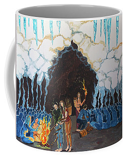 Coffee Mug featuring the painting A Pic In The Action Of Solidarity by Lazaro Hurtado