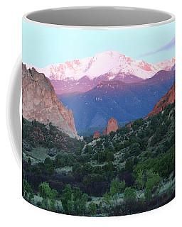 A Pikes Peak Sunrise Coffee Mug
