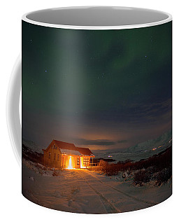 Coffee Mug featuring the photograph A Place For The Night, South Of Iceland by Dubi Roman