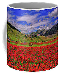 A Poppyy Dream Coffee Mug by Midori Chan