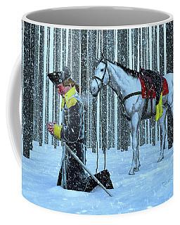 A Prayer In The Snow Coffee Mug by Dave Luebbert