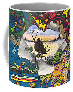Coffee Mug featuring the painting A Punch Through by Darren Cannell