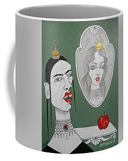 A Queen, Her Mirror And An Apple Coffee Mug