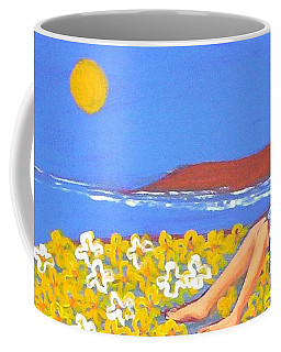 Coffee Mug featuring the painting A Quiet Place by Winsome Gunning