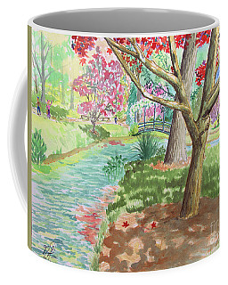 A Quiet Stroll In The Japanese Gardens Of Gibbs Gardens Coffee Mug