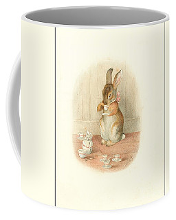 A Rabbit's Tea Party Coffee Mug by Beatrix Potter