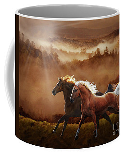 A Race At Sunset Coffee Mug