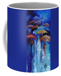 Coffee Mug featuring the digital art A Rainy Day In Paris by Darren Cannell