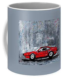 Coffee Mug featuring the painting A Rainy Day In The Ferrari by Rita Brown