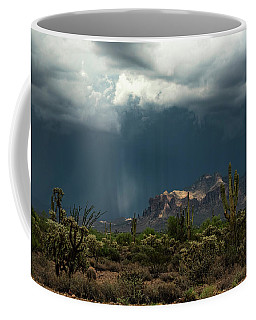 Coffee Mug featuring the photograph A Rainy Evening In The Superstitions  by Saija Lehtonen